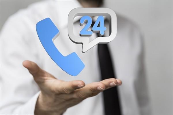 24時間365日いつでも電話サポート