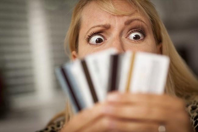 クレジットカードの両面
