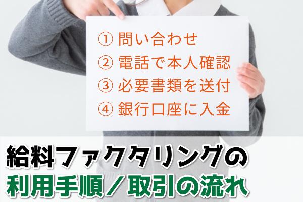 給料ファクタリングの利用手順/取引をする方法